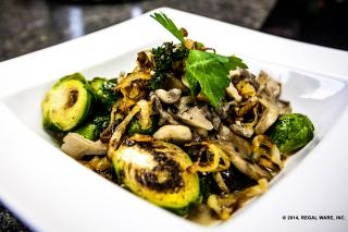 Saladmaster Recipe Brussels Sprouts with Shallots & Wild Mushrooms