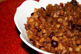 Receta Saladmaster Salsa de Manzana, Arándanos y Canela