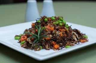 Pilaf de Quinoa, Shiitake y Edamame