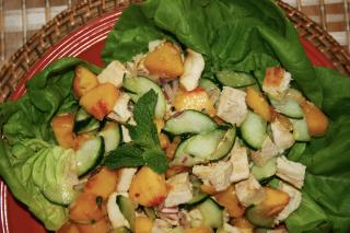 Saladmaster Healthy Solutions 316 Ti Cookware: Chicken and Peach Salad