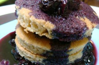 Receta de Saladmaster 316Ti - Tortitas sin Gluten con Salsa de Arándanos