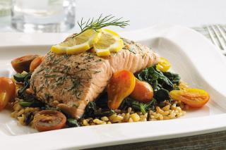 Receta Saladmaster Salmon con Eneldo y Limón