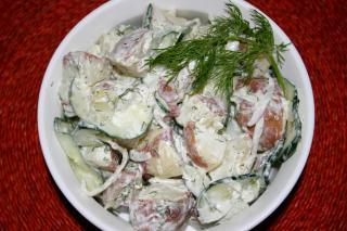 Ensalada de Patata y Pepino con Eneldo