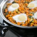 healthy hash recipe, hash recipe, sweet potato recipe, easy eggs
