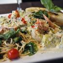 Saladmaster Healthy Solutions 316 Ti Cookware: Shrimp with Pasta Florentine in a Pesto Artichoke Cream Sauce