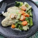 chicken, one pan meal, 30 minutes meal, vegetables, broccoli, carrots, cauliflower