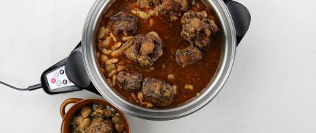 butter beans, oxtail, stew, jamaican, caribbean, beef
