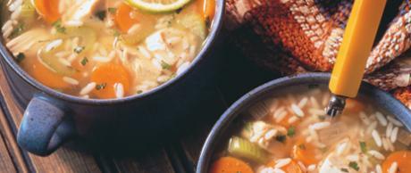 Receta Saladmaster Sopa Sustanciosa de Pollo y Arroz